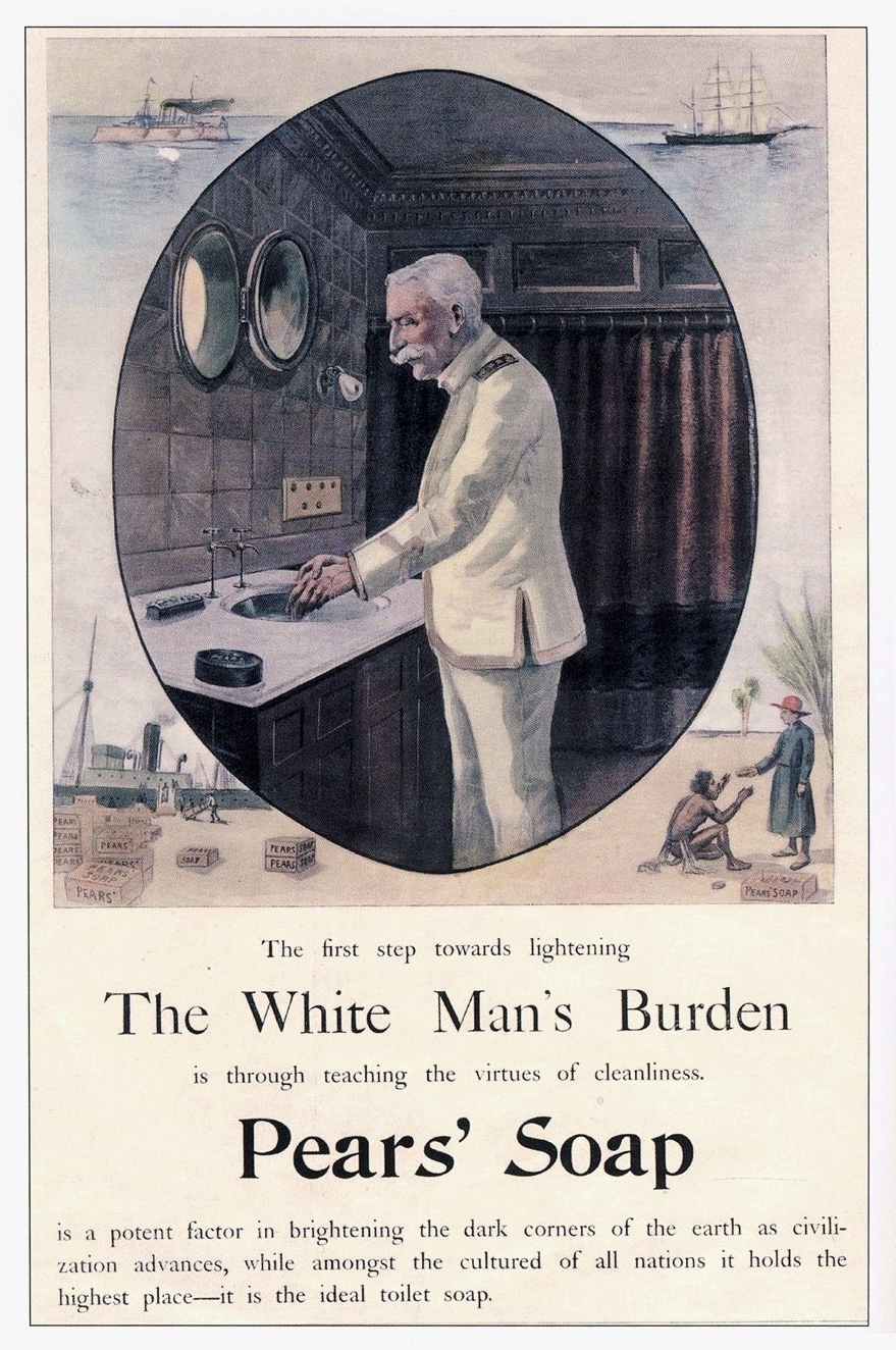 racially offensive late 19th century soap ad
